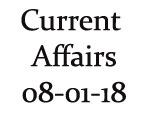 Current Affairs 8th January 2018