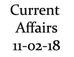 Current Affairs 11th February 2018