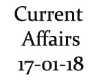 Current Affairs 17th January 2018