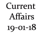 Current Affairs 19th January 2018