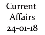 Current Affairs 24th January 2018