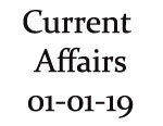 Current Affairs 1st January 2019