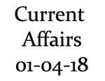 Current Affairs 1st April 2018