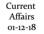 Current Affairs 1st December 2018