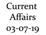 Current Affairs 3rd July 2019