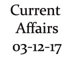 Current Affairs 3rd December 2017