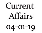 Current Affairs 4th January 2019