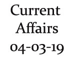 Current Affairs 4th March 2019