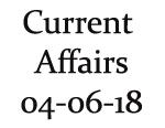 Current Affairs 4th June 2018