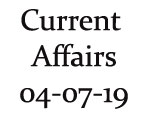 Current Affairs 4th July 2019