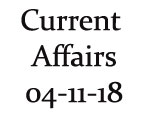 Current Affairs 4th November 2018