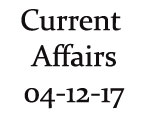 Current Affairs 4th December 2017
