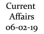 Current Affairs 6th February 2019