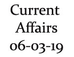 Current Affairs 6th March 2019