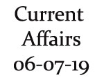 Current Affairs 6th July 2019