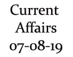 Current Affairs 7th August 2019