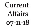 Current Affairs 7th November 2018