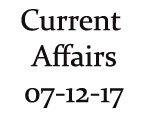 Current Affairs 7th December 2017