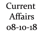 Current Affairs 8th October 2018