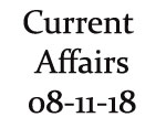 Current Affairs 8th November 2018