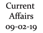 Current Affairs 9th February 2019