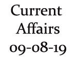 Current Affairs 9th August 2019