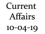 Current Affairs10th April 2019