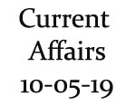 Current Affairs 10th May 2019