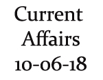 Current Affairs 10th June 2018