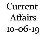 Current Affairs 10th June 2019
