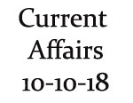 Current Affairs 10th October 2018
