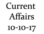 Current Affairs 10th October 2017