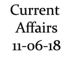 Current Affairs 11th June 2018
