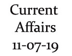 Current Affairs 11th July 2019