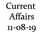 Current Affairs 11th August 2019
