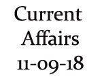 Current Affairs 11th September 2018