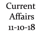 Current Affairs 11th October 2018