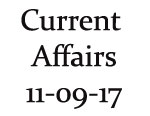 Current Affairs 11th September 2017
