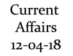 Current Affairs 12th April 2018