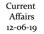 Current Affairs 12th June 2019