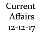 Current Affairs 12th December 2017