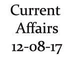 Current Affairs 12th August 2017