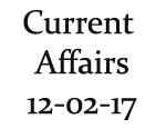 Current Affairs 12th February 2017
