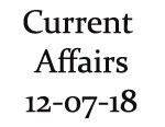 Current Affairs 12th July 2018