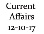 Current Affairs 12th October 2017