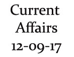 Current Affairs 12th September 2017