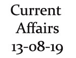 Current Affairs 13th August 2019