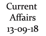 Current Affairs 13th September 2018