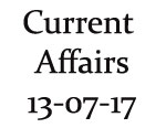 Current Affairs 13th July 2017