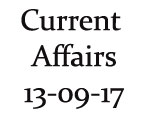 Current Affairs 13th September 2017